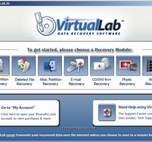 VirtualLab Data Recovery Free